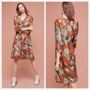 Anthro Hermant & Nandita Zeri Floral Peasant Dress